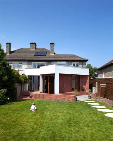 1950s house extension added to an 1950s semi detached house in dublin