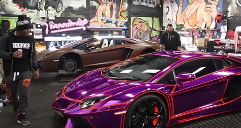 kid on buys wraps a lamborghini
