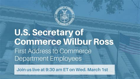 office of the secretary department of commerce u s secretary of commerce wilbur ross addresses commerce