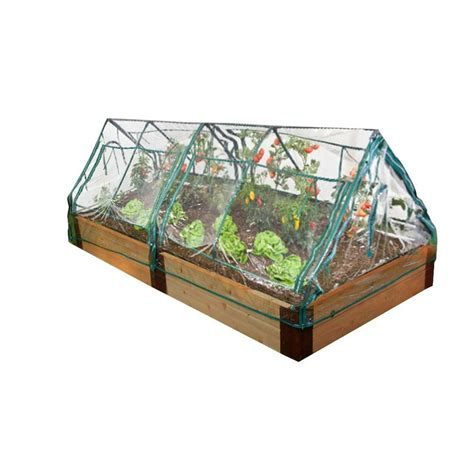 frame it all two inch series 4 ft x 8 ft x 12 in cedar raised garden bed kit with 2