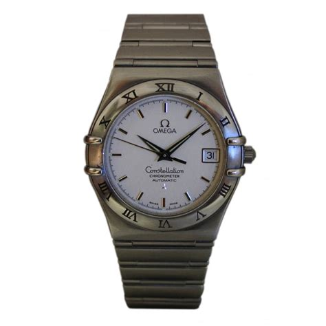 pre owned omega s stainless steel constellation