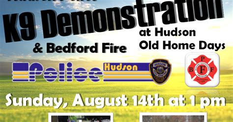 hudson nh home days k9 demonstration