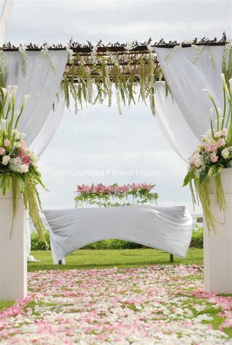 How To Set A Table ceremony bali wedding flowers