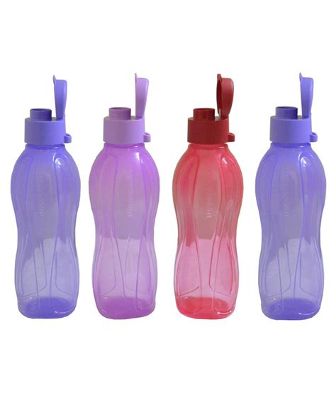 Tupperware Murah Ecco Bottle 500ml 4 tupperware fliptop bottle 500ml pack of 4 purple blue pink buy at best price in
