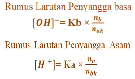 menghitung ph larutan penyangga asam  basa