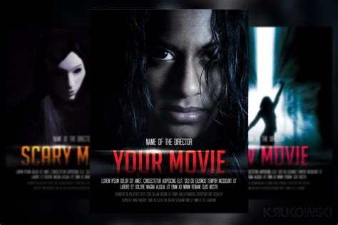 movie poster flyer template flyer templates on creative