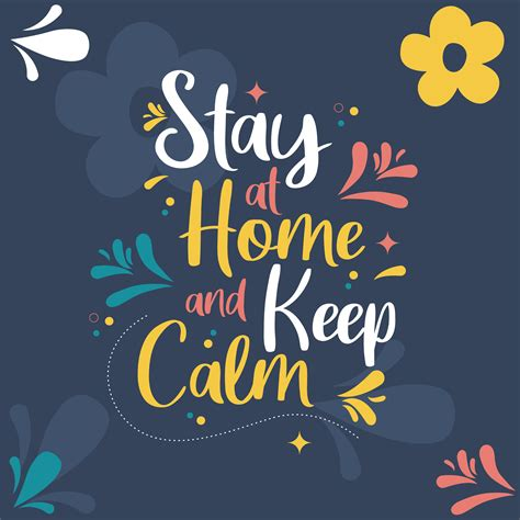 stay  home   calm colorful card