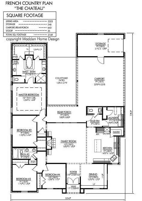 madden home design the chateau 2223 sq ft floor plans