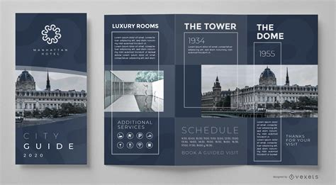 city guide brochure template vector