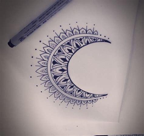 half mandala tattoo meaning crest moon mandala tattoo tattoo ideas pinterest