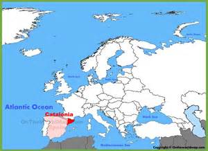 catalonia location on the europe map