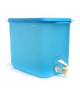 Blue Kitchen Canister tupperware water dispenser blue 10 litre by tupperware