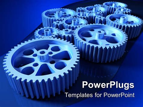 Powerpoint Template How A Machine Works A Concept With Set Of Gears 13400 Powerpoint Templates For Machines