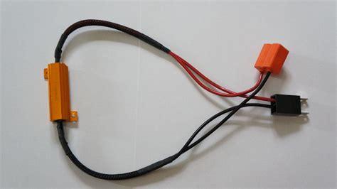 led drl capacitor 2x h7 led light fog xenon hid drl l no error load resistor wiring harness ebay
