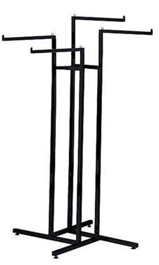 4 Arm Clothing Rack by Black 4 Way Clothing Racks Arms Store Supply