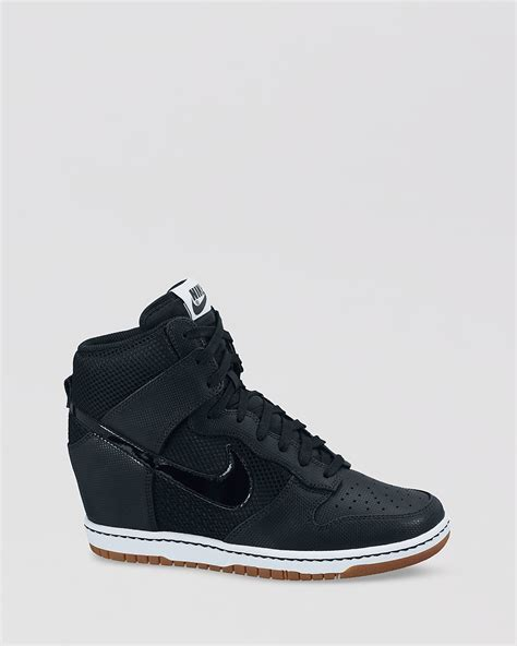 nike wedge sneaker nike lace up high top sneaker wedges s dunk sky hi