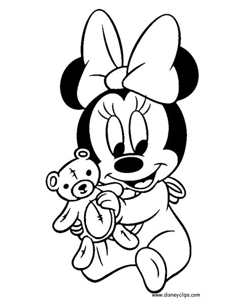 baby minnie mouse coloring sheets free coloring pages disney babies coloring pages 3 disney coloring book