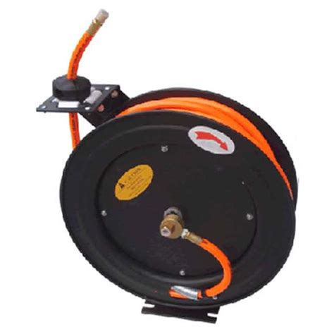 iron 3 8 ft x 50 ft automatic air hose reel with