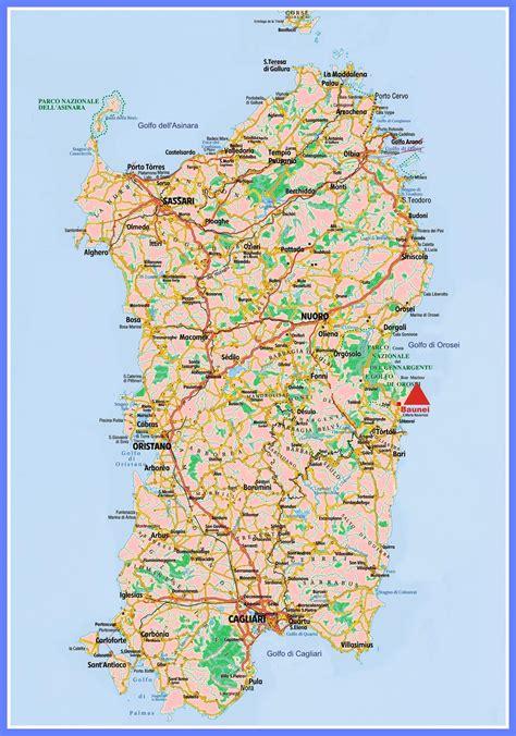printable road map of sardinia popular 245 list sardinia map