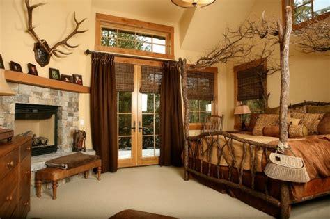 cowboy badezimmerideen decoracion de dormitorios rusticos madera y piedra