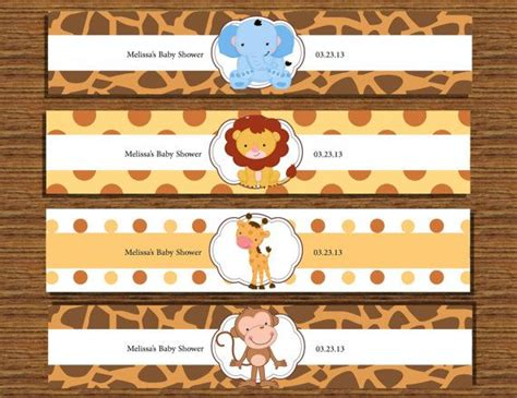 baby safari animals water bottle labels bottle animals