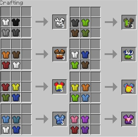 minecraft dye colors minecraft leather armor dye