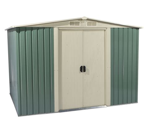 foxhunter garden shed metal apex 10 x 8ft outdoor storage