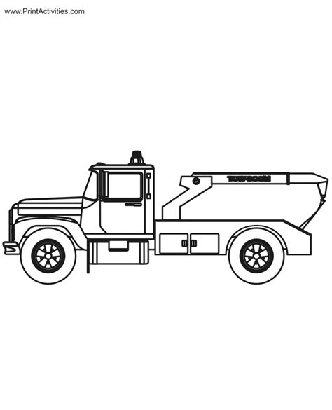tow truck coloring page printout free coloring pages of flatbed towtruck