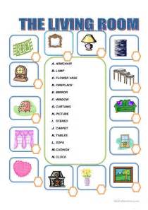 Is Livingroom One Word by Furniture In The Living Room Worksheet Free Esl