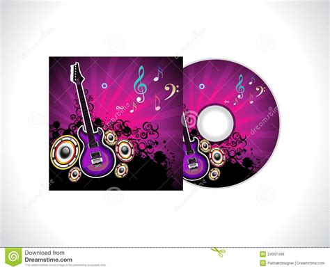 abstract music cd template royalty free stock photos