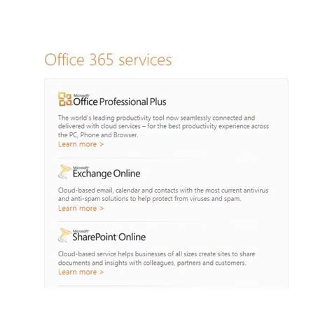 Office 365 Features Office 365 Comparison A Look At The Features And How They