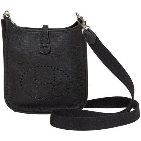 Hermes Mini V new herm 232 s black epsom mini evelyne bag at 1stdibs