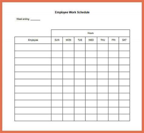 employee schedule template excel bio exle