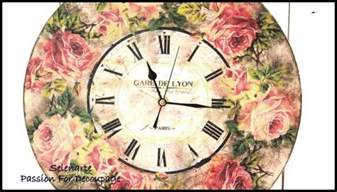 Decoupage Clock - selenarte for decoupage my new design and