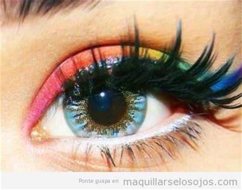 imagenes ojos de colores arcoiris archivos maquillarse los ojos