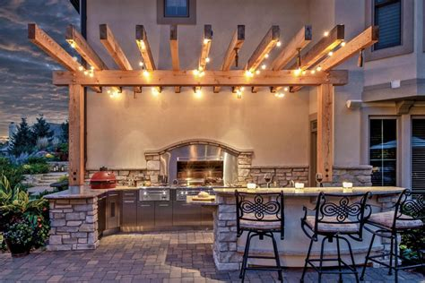outdoor kitchen lighting fixtures let there be light pergola lighting and design ideas