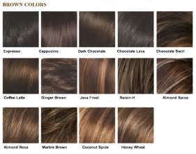 brown hair color chart my selah salon 187 color chart