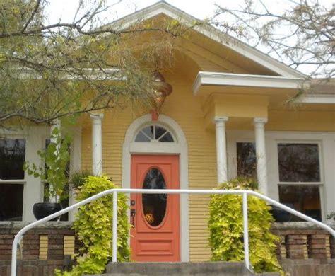yellow houses  orange doors austin texas daily