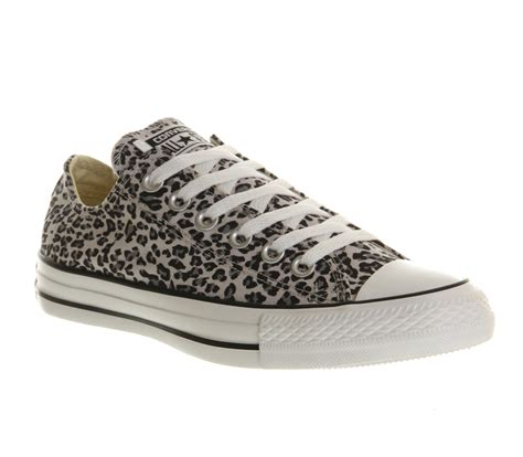 office snow leopard converse converse all star ox low snow leopard exclusive trainers