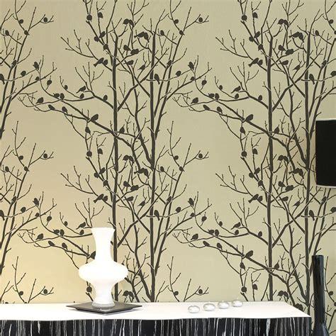wall pattern stencil designs birds in trees allover wall stencil reusable wall
