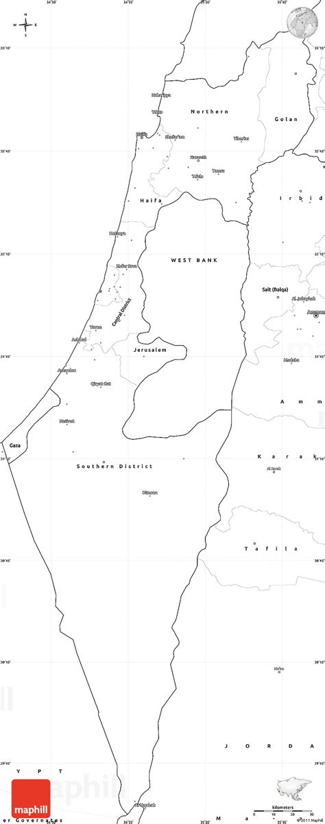 Free Outline Map Of Israel by Blank Simple Map Of Israel