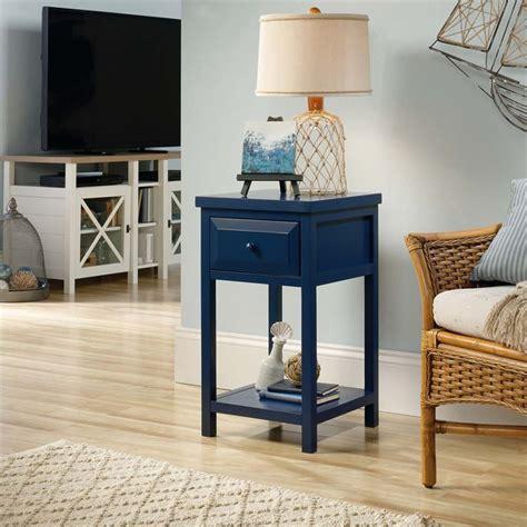sauder cottage road end table sauder cottage road side table in indigo blue 420136