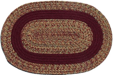 carolina braided rugs carolina harvest burgundy band oval braided rug