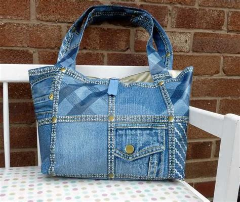 Handmade Oilcloth Bags - handmade oilcloth pvc vinyl tote bag denim style new