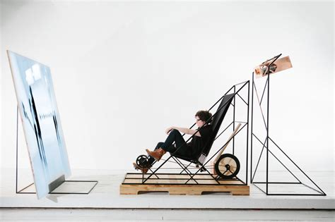The Bike Chair by Chair Stationary Bike By Les Ateliers Guyon Moco