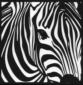 Free Paper Craft Cutting Designs For Silhouette Cameo A Zebra Silhouette Templates For Paper Cutting