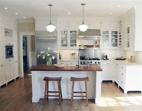 butcher block countertop for the island white kitchens