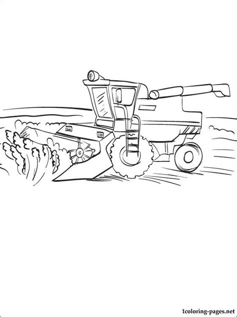 free coloring pages of combine harvester