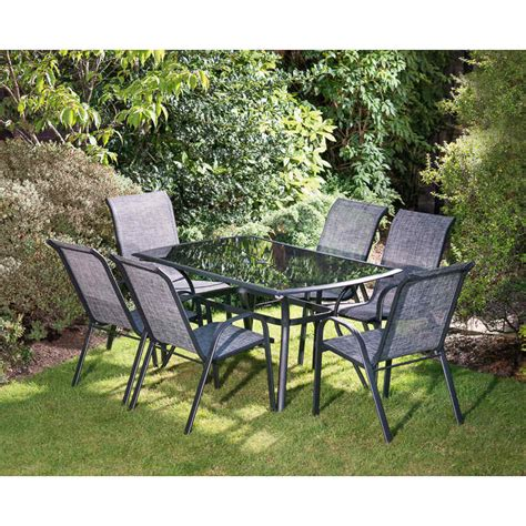 seville patio set pc garden furniture