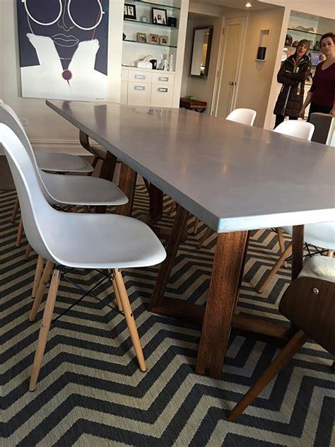 concrete dining table concrete dining table